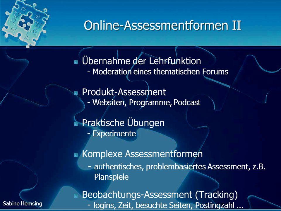 Online-Assessmentformen II