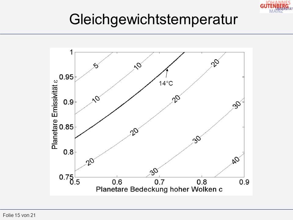 Gleichgewichtstemperatur
