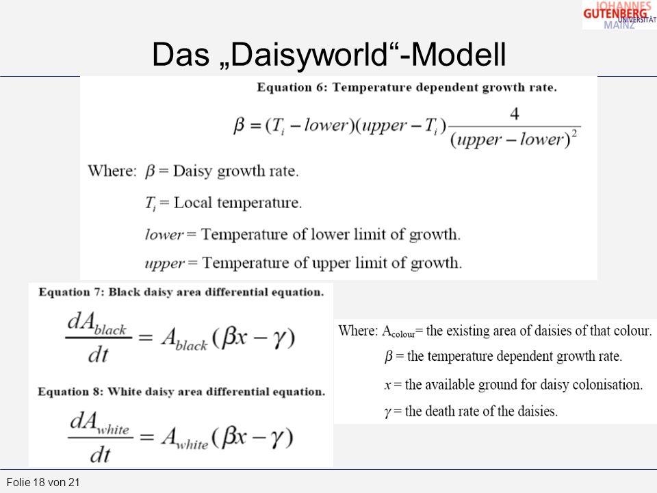 "Das ""Daisyworld -Modell"