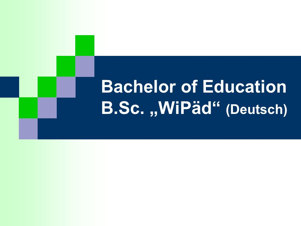 "Bachelor of Education B.Sc. ""WiPäd (Deutsch)"