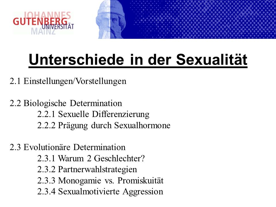 Unterschiede in der Sexualität