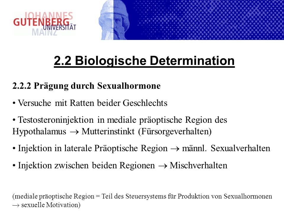 2.2 Biologische Determination