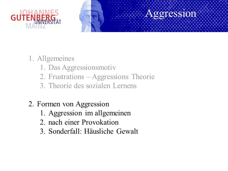 Aggression Allgemeines Das Aggressionsmotiv