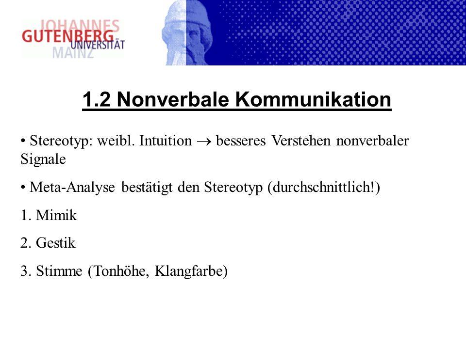 1.2 Nonverbale Kommunikation