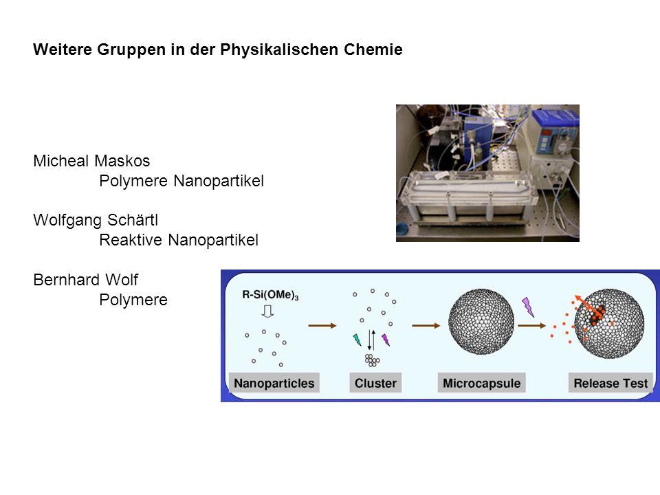 Weitere Gruppen in der Physikalischen Chemie