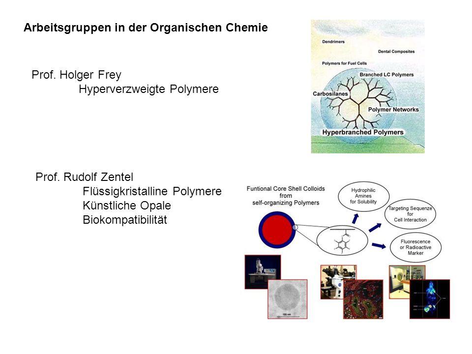 Arbeitsgruppen in der Organischen Chemie