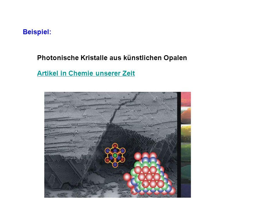 Beispiel: Photonische Kristalle aus künstlichen Opalen Artikel in Chemie unserer Zeit