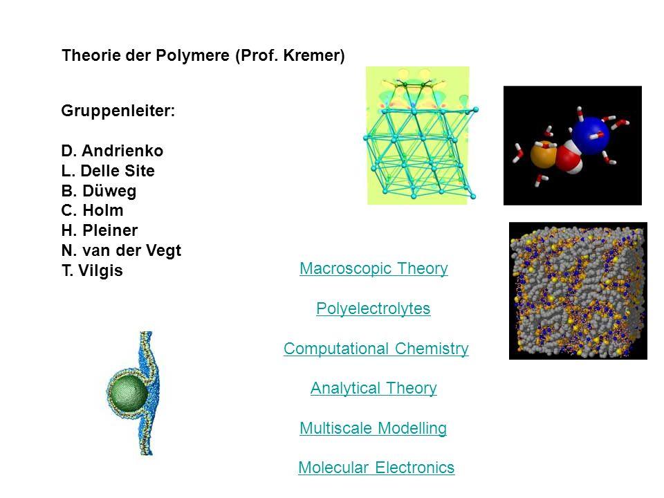 Theorie der Polymere (Prof. Kremer)