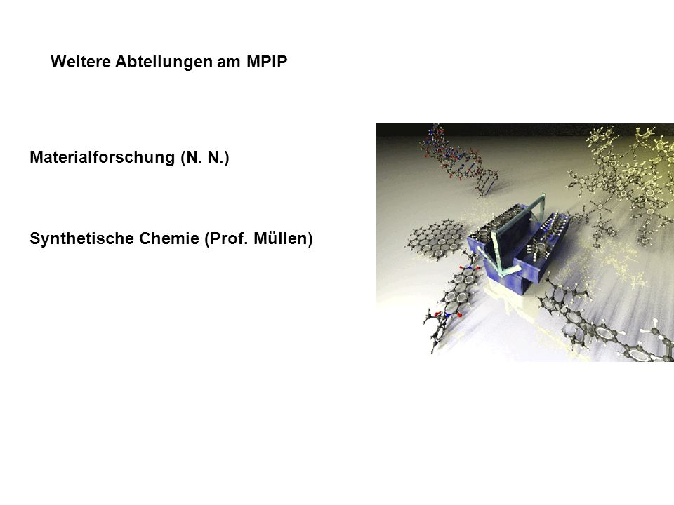 Weitere Abteilungen am MPIP