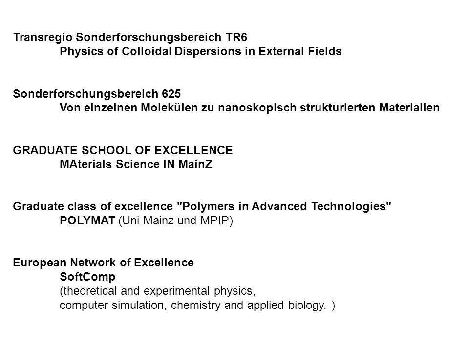 Transregio Sonderforschungsbereich TR6