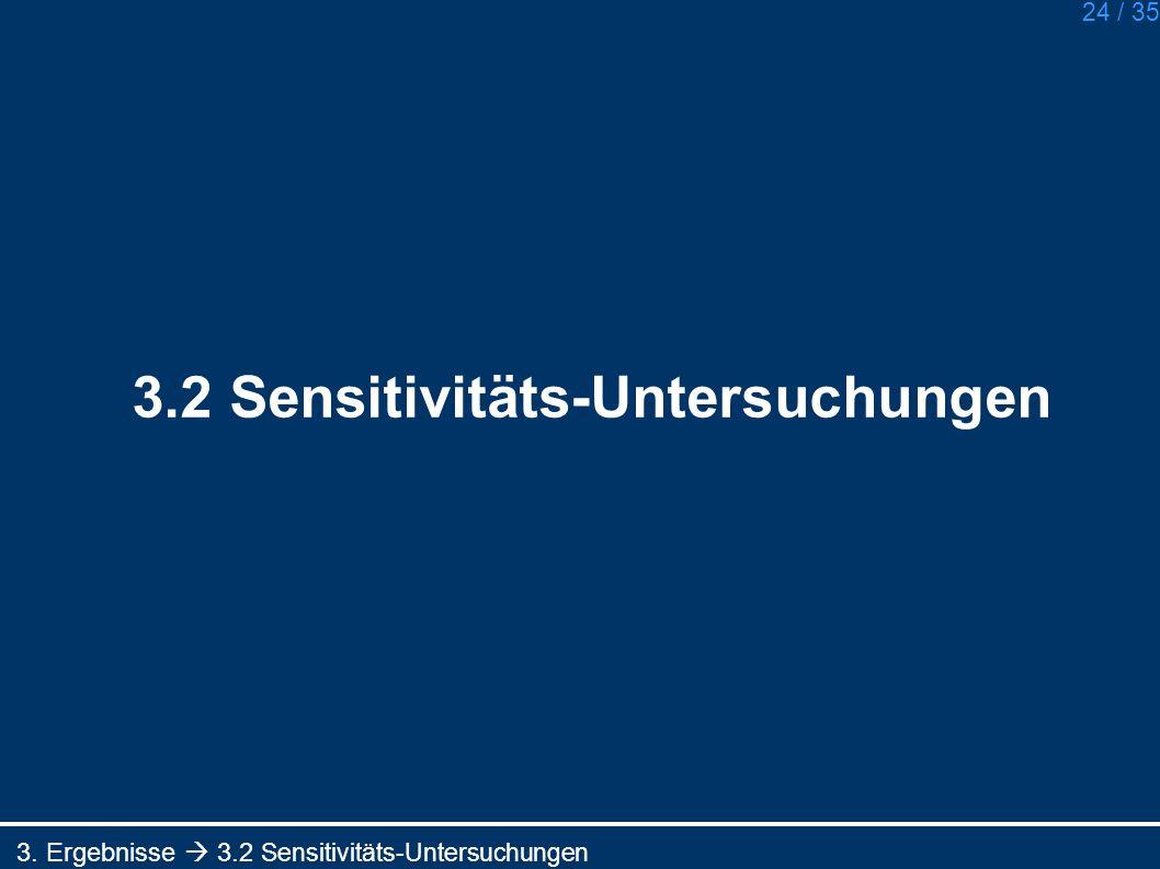 3.2 Sensitivitäts-Untersuchungen