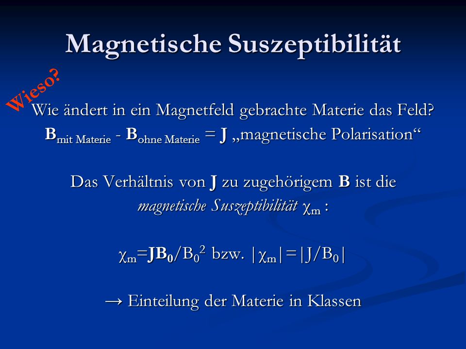 Magnetische Suszeptibilität