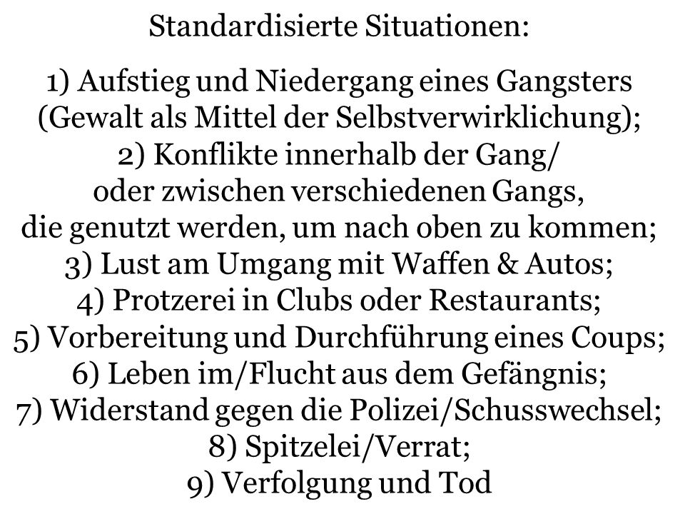 Standardisierte Situationen: