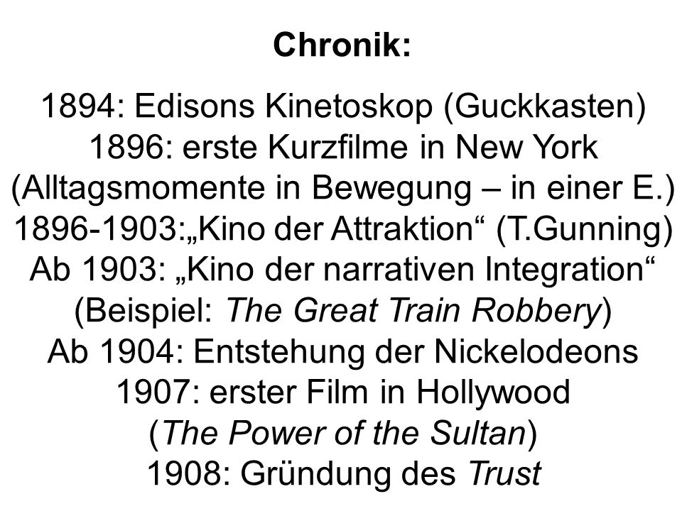 1894: Edisons Kinetoskop (Guckkasten)