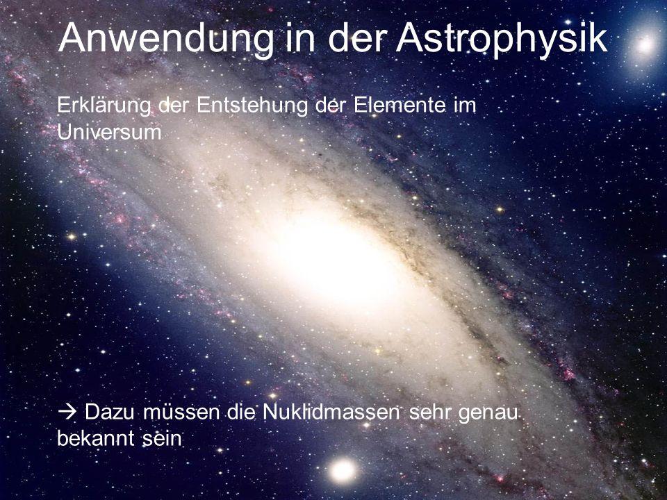 Anwendung in der Astrophysik