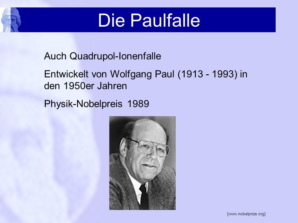 Die Paulfalle Auch Quadrupol-Ionenfalle