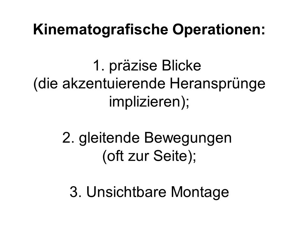 Kinematografische Operationen: