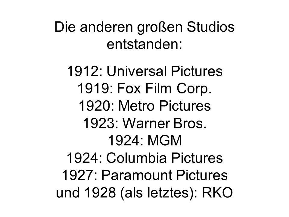 Die anderen großen Studios