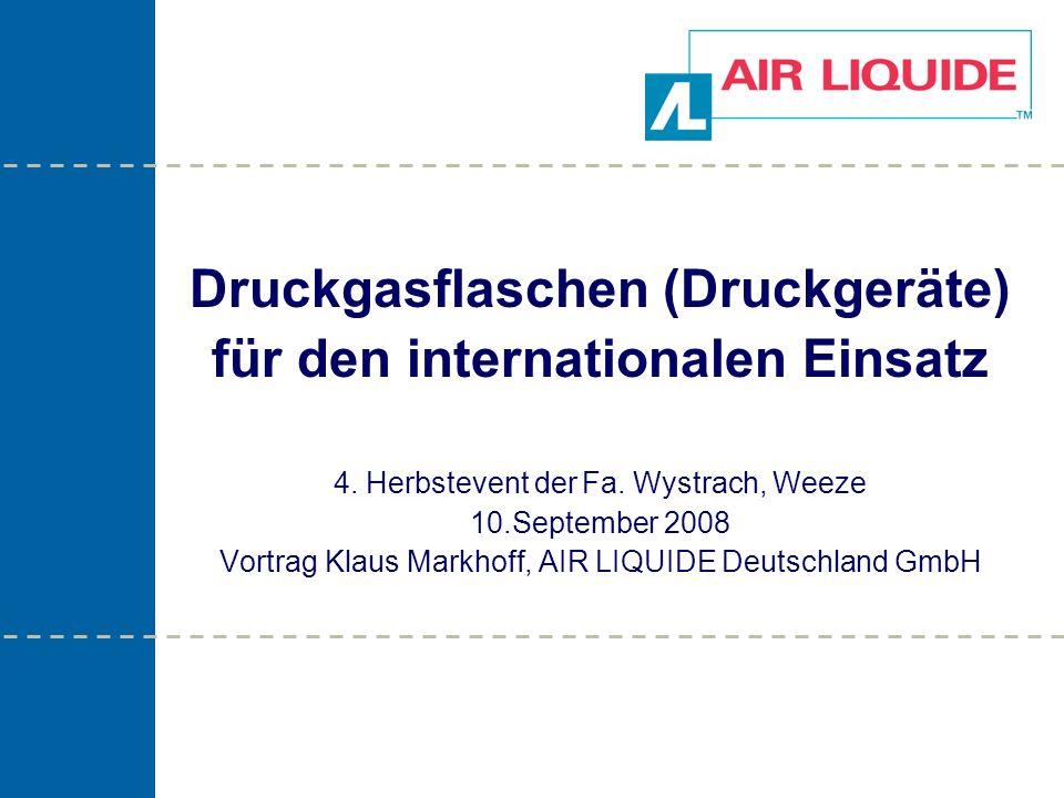 Druckgasflaschen (Druckgeräte) für den internationalen Einsatz 4