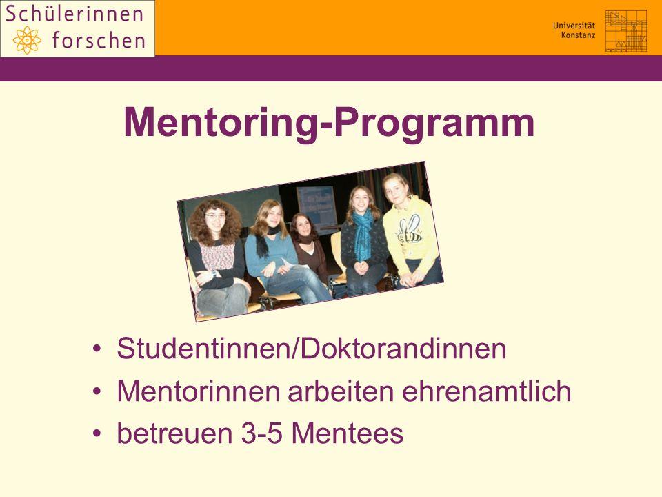 Mentoring-Programm Studentinnen/Doktorandinnen