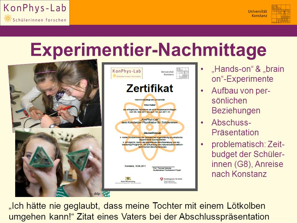 Experimentier-Nachmittage
