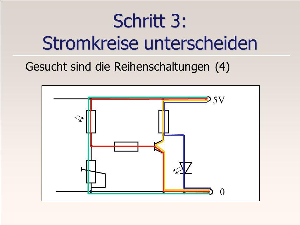Schritt 3: Stromkreise unterscheiden
