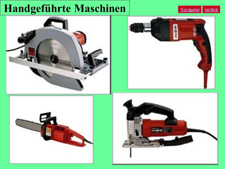 Handgeführte Maschinen