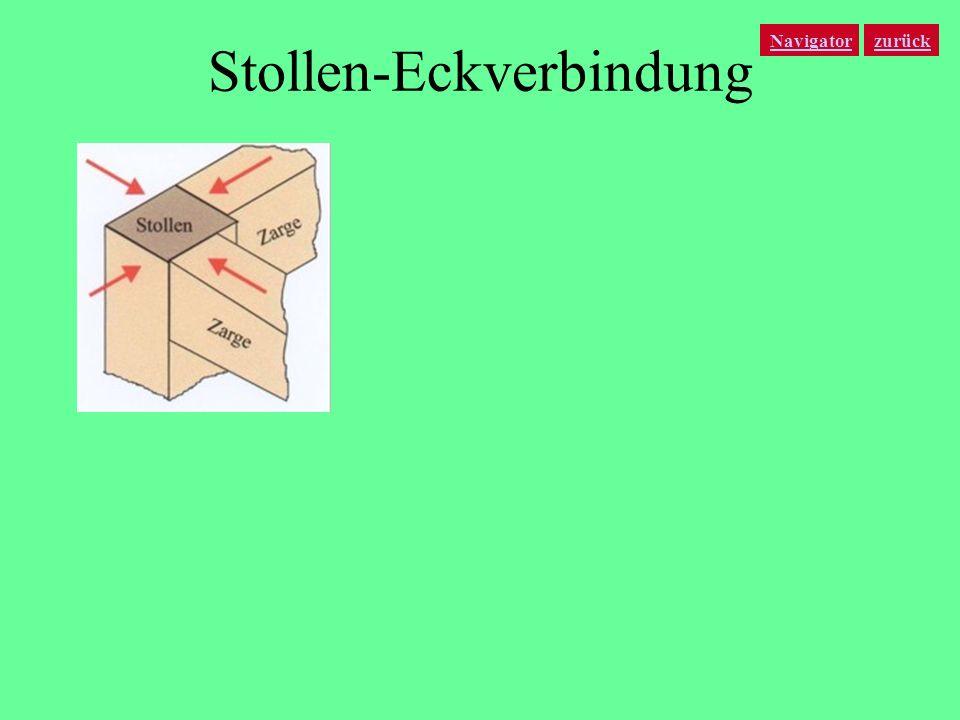 Stollen-Eckverbindung