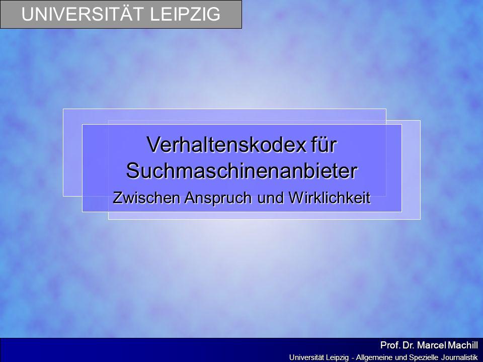 Verhaltenskodex für Suchmaschinenanbieter
