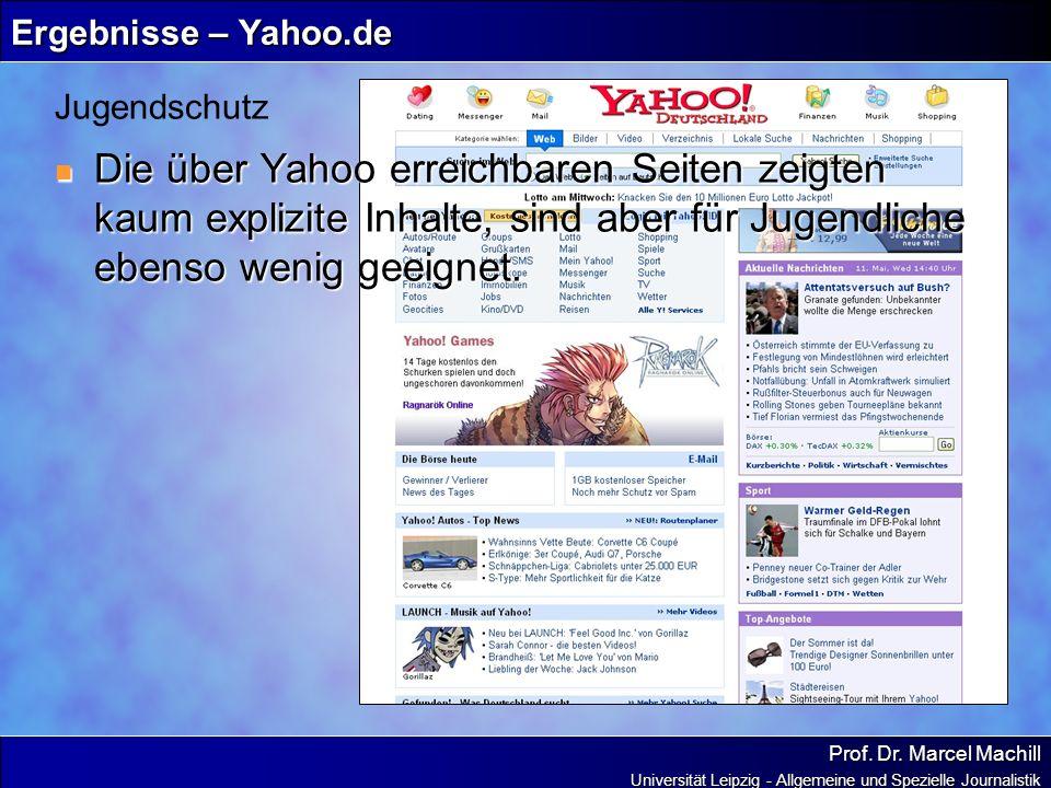 Ergebnisse – Yahoo.de Jugendschutz.