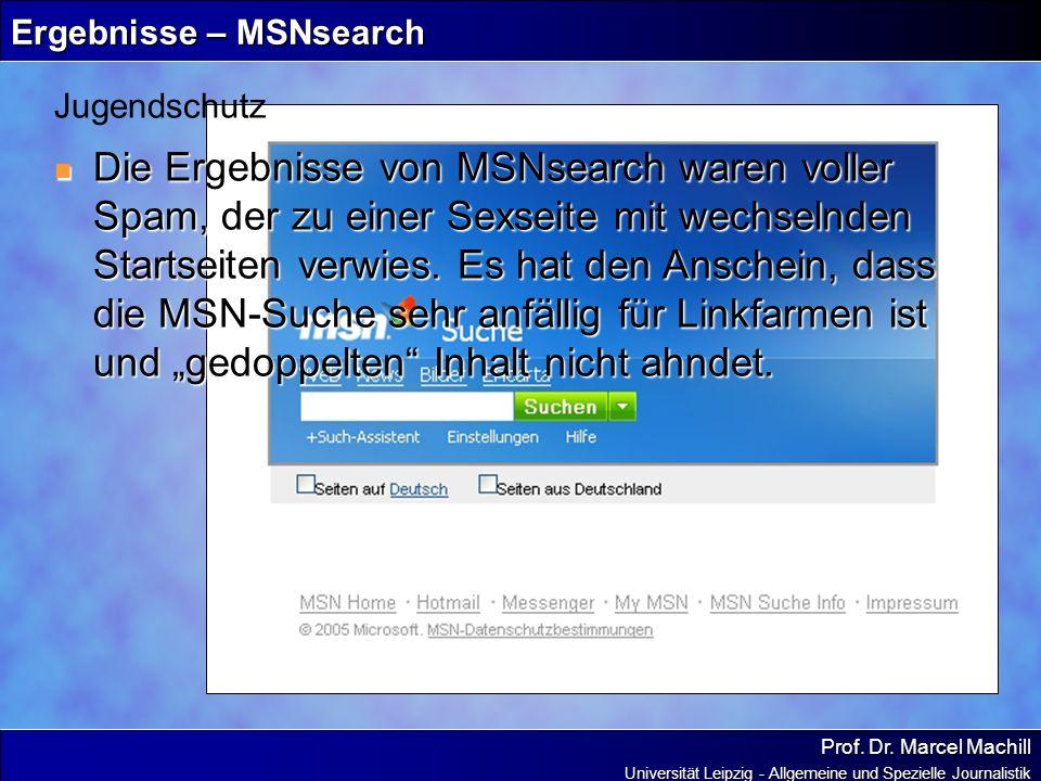 Ergebnisse – MSNsearch