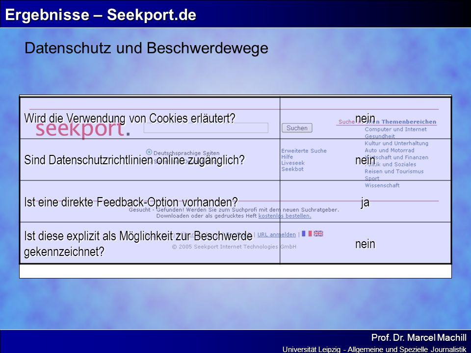 Ergebnisse – Seekport.de