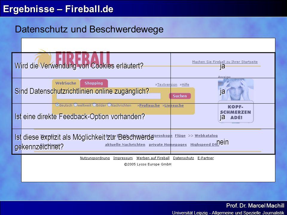 Ergebnisse – Fireball.de
