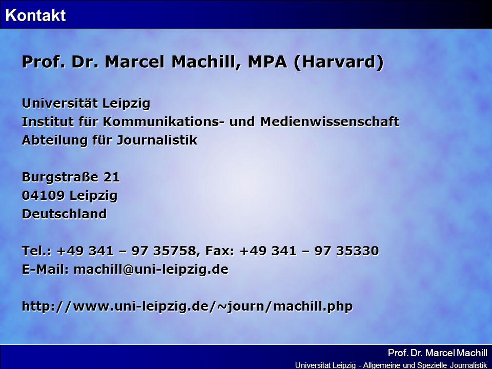 Prof. Dr. Marcel Machill, MPA (Harvard)