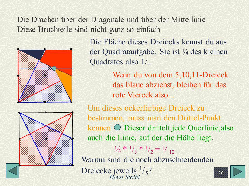Warum sind die noch abzuschneidenden Dreiecke jeweils 1/5