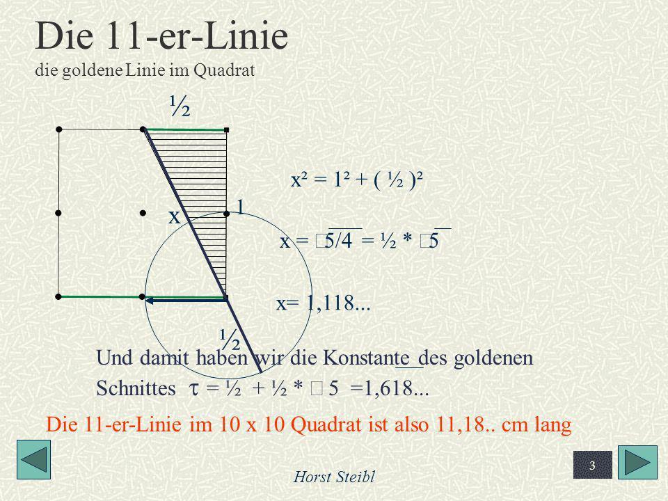 Die 11-er-Linie die goldene Linie im Quadrat
