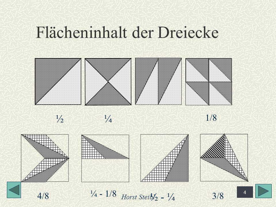 Flächeninhalt der Dreiecke