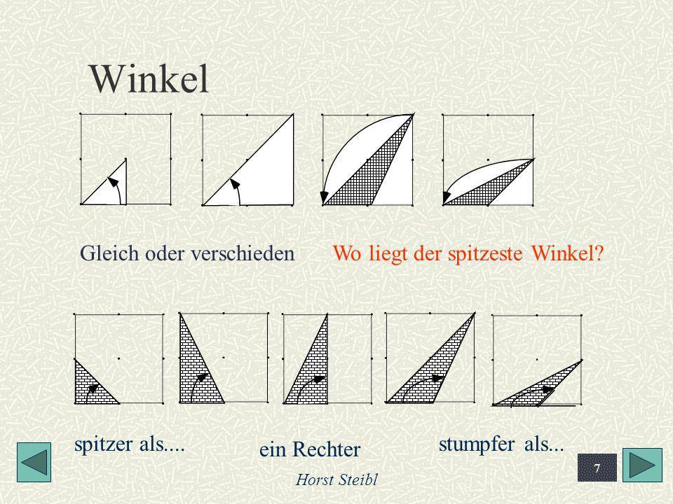 Winkel Gleich oder verschieden Wo liegt der spitzeste Winkel
