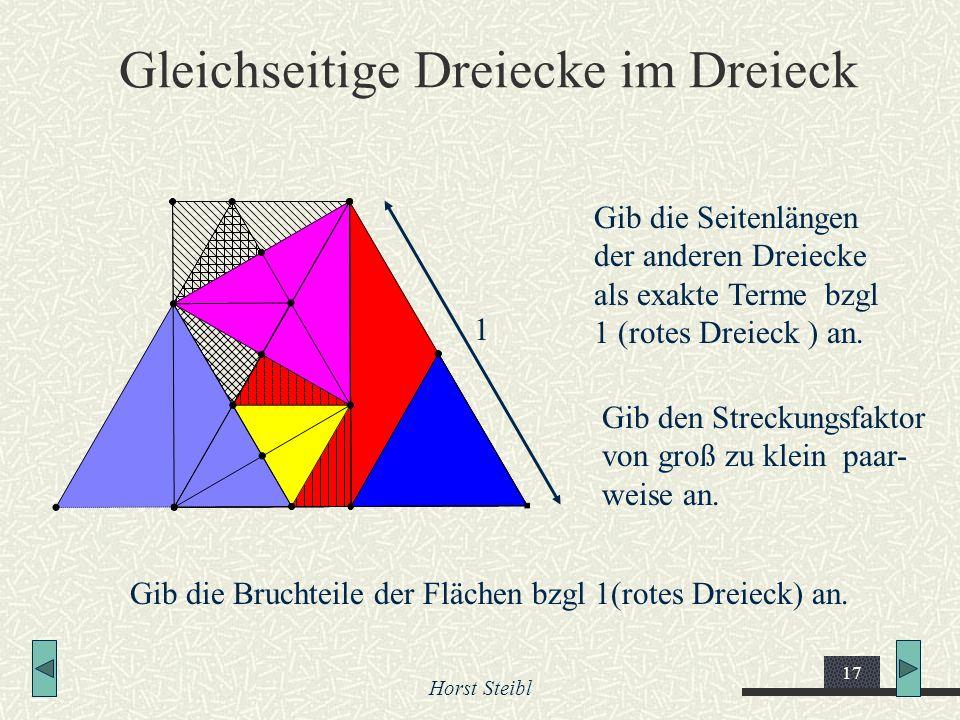 Gleichseitige Dreiecke im Dreieck