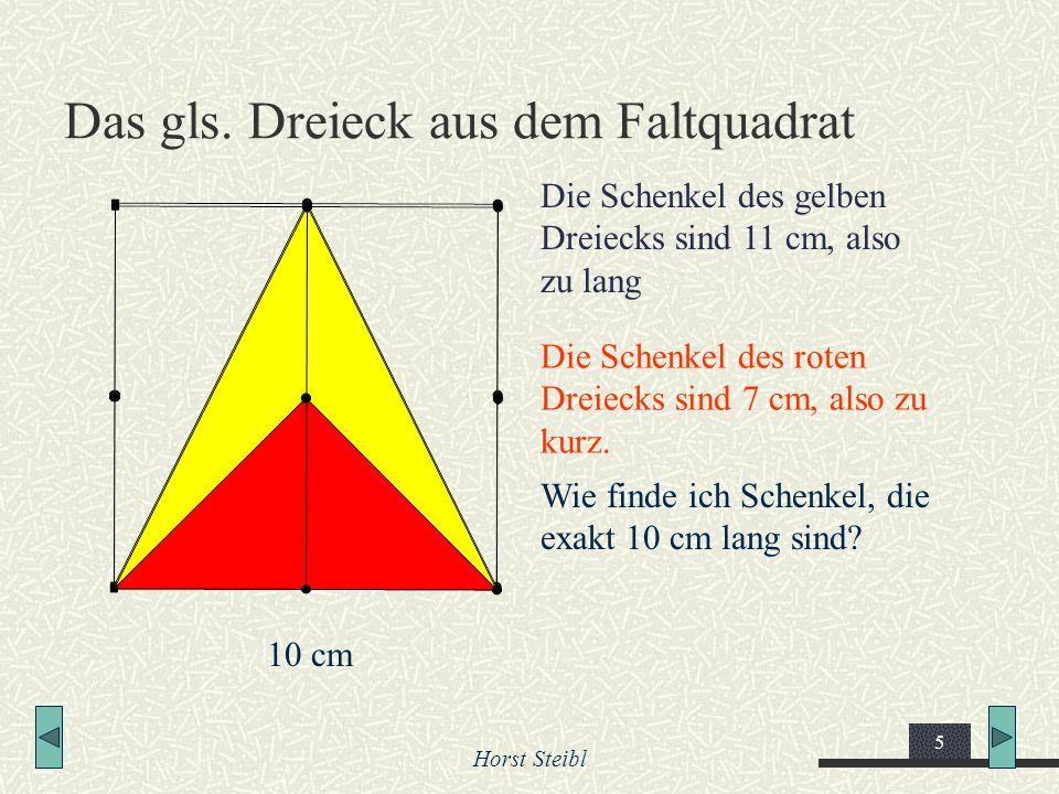Das gls. Dreieck aus dem Faltquadrat