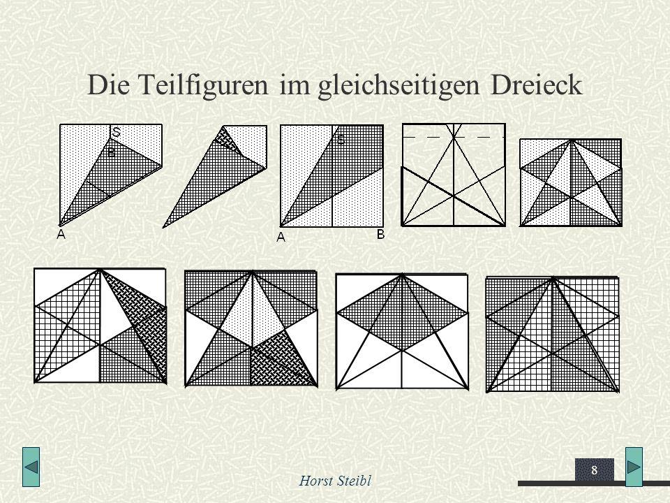 Die Teilfiguren im gleichseitigen Dreieck