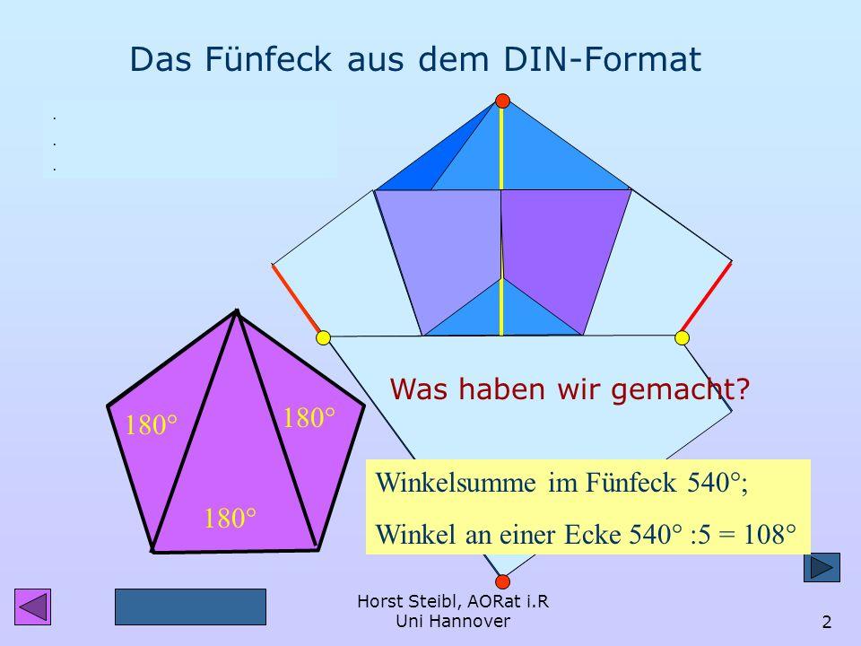 Das Fünfeck aus dem DIN-Format