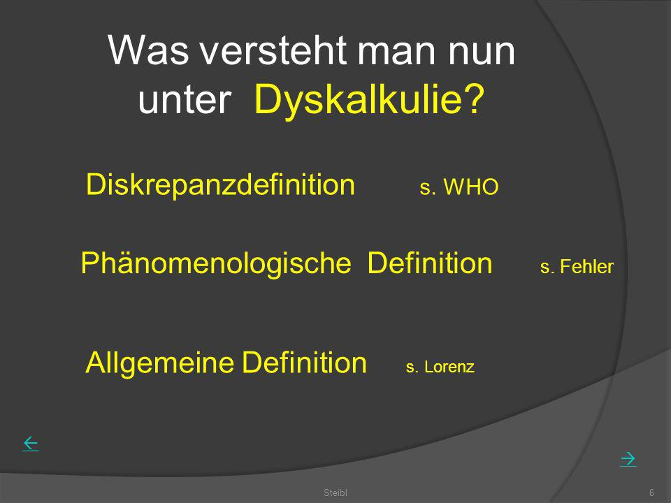 Was versteht man nun unter Dyskalkulie