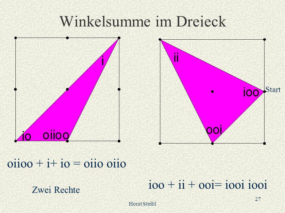 Winkelsumme im Dreieck