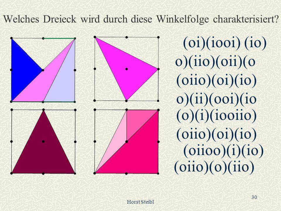 Welches Dreieck wird durch diese Winkelfolge charakterisiert