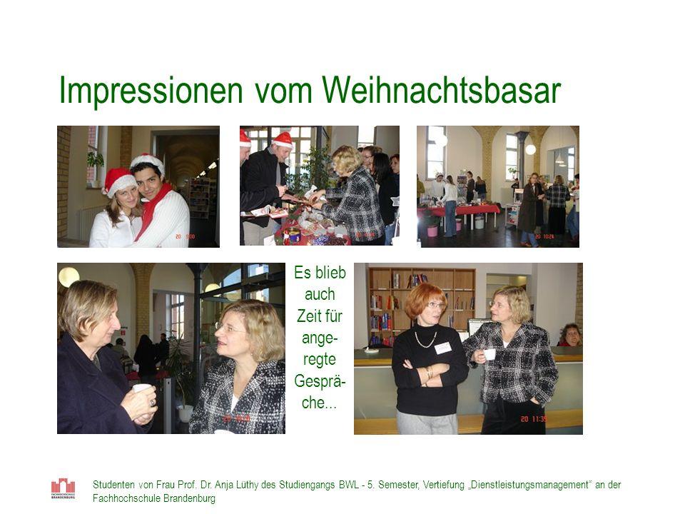 Impressionen vom Weihnachtsbasar
