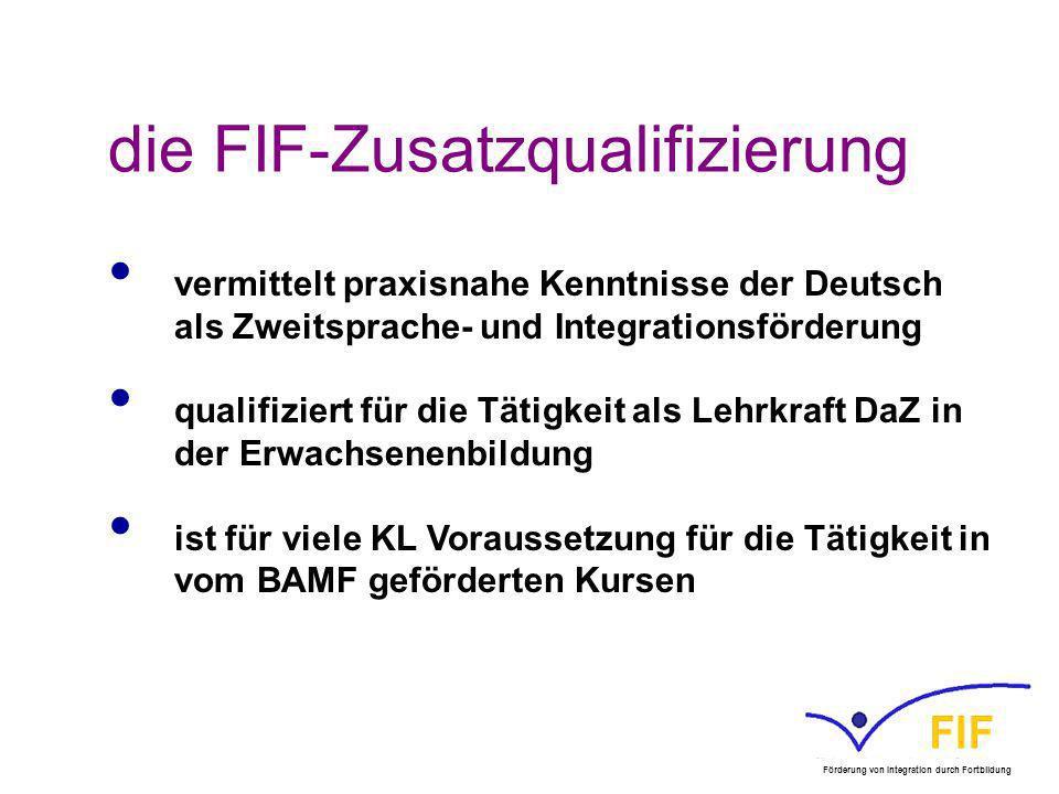die FIF-Zusatzqualifizierung