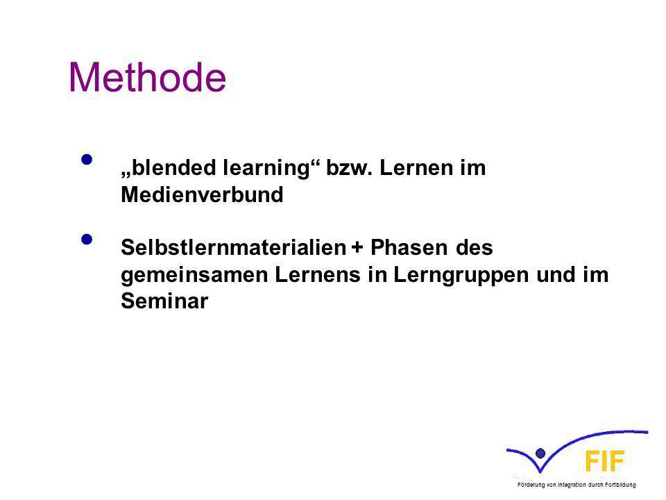 "Methode ""blended learning bzw. Lernen im Medienverbund"