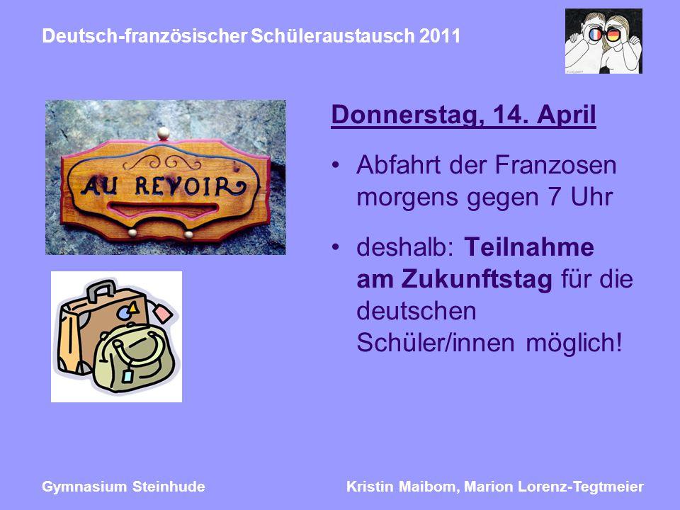 Deutsch-französischer Schüleraustausch 2011