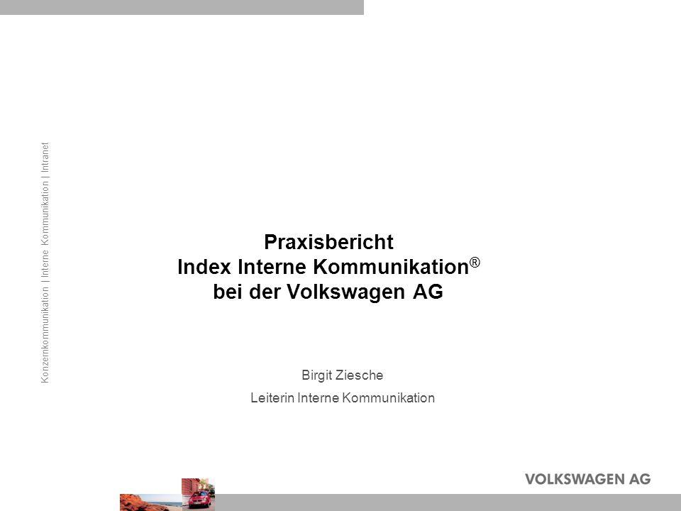 Praxisbericht Index Interne Kommunikation® bei der Volkswagen AG